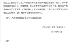 """我院获批""""第一批广西营养健康食堂示范单位"""""""
